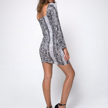 Moria Mini Dress in Snake by Motel
