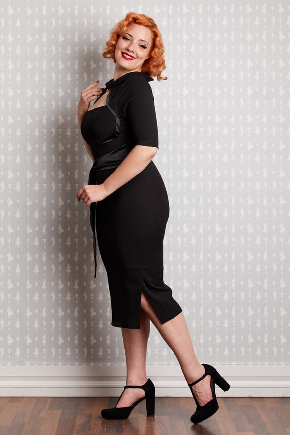 Kitti- Lou The Bombshell Wiggle Dress - Divine N' Envy Modern Vintage Clothing