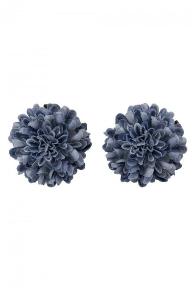 Betty Hair Flower in Blue, Pink, Purple or White. - Divine N' Envy Modern Vintage Clothing