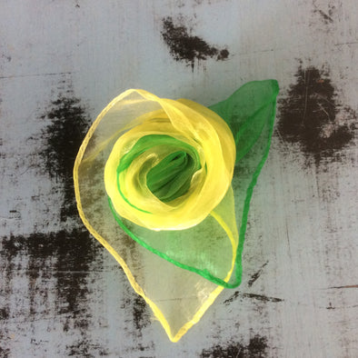 Nylon Head Scarf - Green & Yellow - Divine N' Envy Modern Vintage Clothing