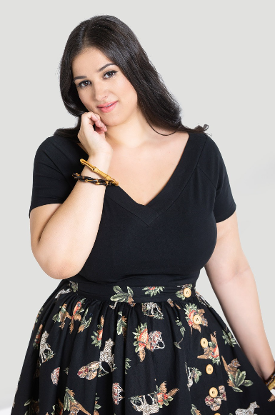 Alex Top  Plus Size BLACK, Red or LAVENDER - Divine N' Envy Modern Vintage Clothing