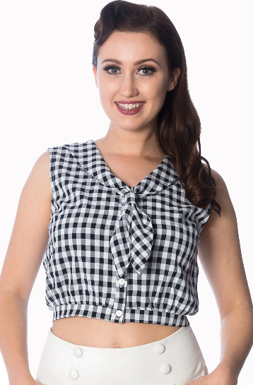 Summer Breeze Tie Top - Divine N' Envy Modern Vintage Clothing