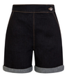 Yaz Denim Navy Shorts - Divine N' Envy Modern Vintage Clothing