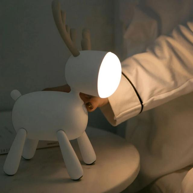 Cartoon Deer Rotating Night Light