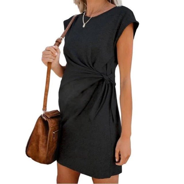 Adjustable High Waist Maternity Dress