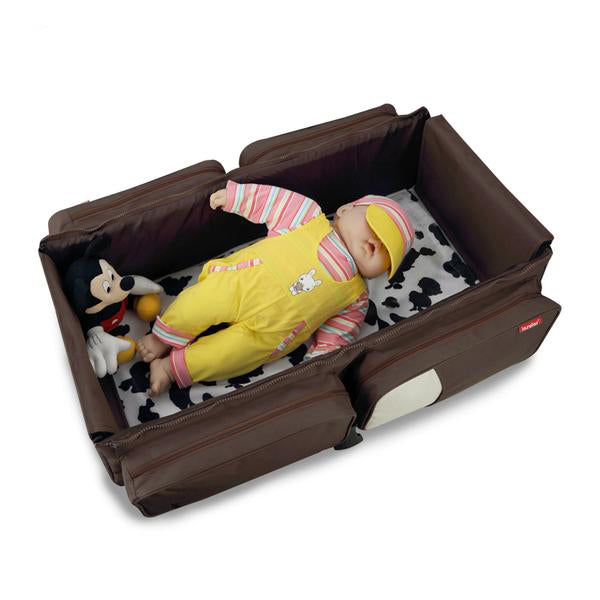3 in 1 Portable Multi-functional Collapsible Newborn Crib/Bag