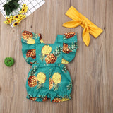 Baby Girl Cute Floral Rompers