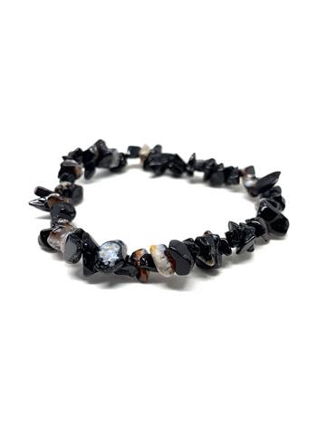 Black Agate Chip Bracelet