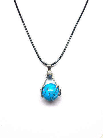 Two Handed Pendant - Blue Howlite