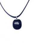 Blue Goldstone Turtle Shell Pendant
