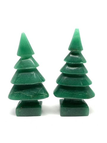 Green Aventurine Christmas Tree