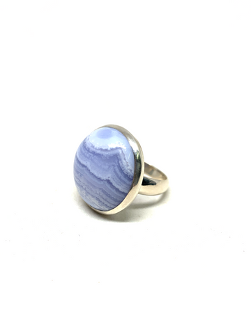 Blue Lace Agate Ring - Size 8.5