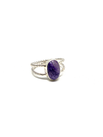 Charoite Ring - Size 7.5