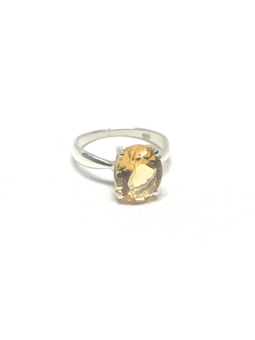 Citrine Faceted Ring - Size 7