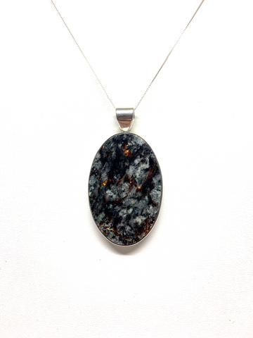 Astrophyllite Oval Pendant
