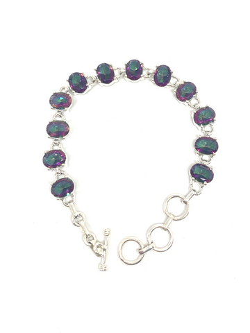 Mystic Topaz Oval Faceted Bracelet