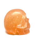 Orange Selenite Skull