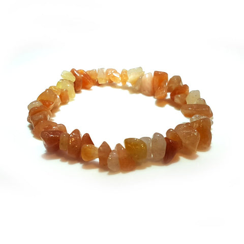 Red Aventurine Chip Bracelet