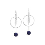 Lapis Lazuli with Chain Earrings