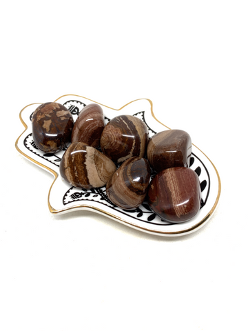 Chocolate Jasper Tumble Stones