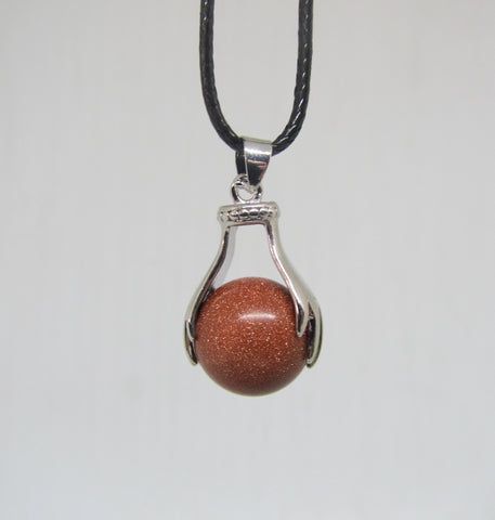 Goldstone Two Handed Pendant