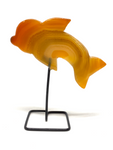 Natural Agate Dolphin on Stand