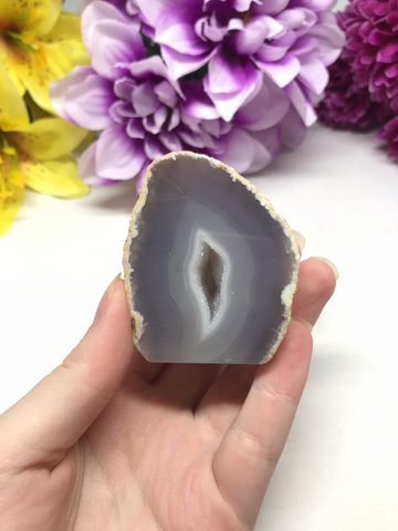 Natural Grey Agate Geode