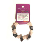 Rose Quartz & Hematite Chip Bracelet
