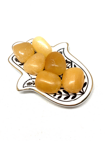 Yellow Calcite Tumble Stones