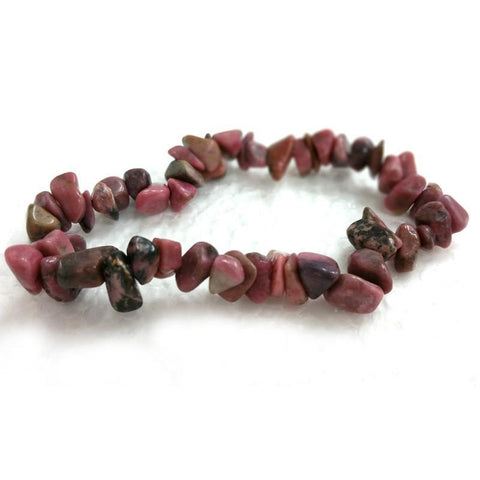 Rhodonite Chip Bracelet