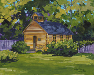 Old Mission Cabin - Original Painting