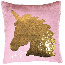 Load image into Gallery viewer, Unicorn Reversible Sequin Pillow