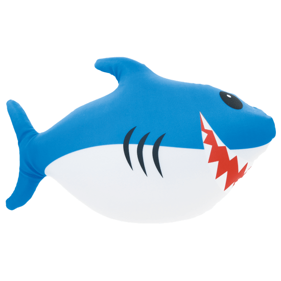 Bubble Gum Scented Micro Bead Shark Pillow