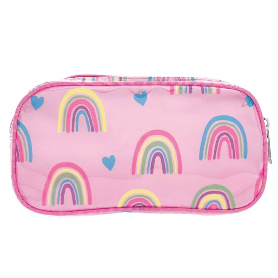 Rainbow & Hearts Cosmetic Bag