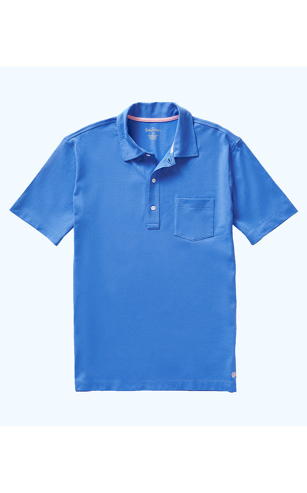 Mens Polo Coastal Blue