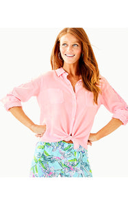 SEA VIEW BUTTON DOWN PINK TROPICS TINT
