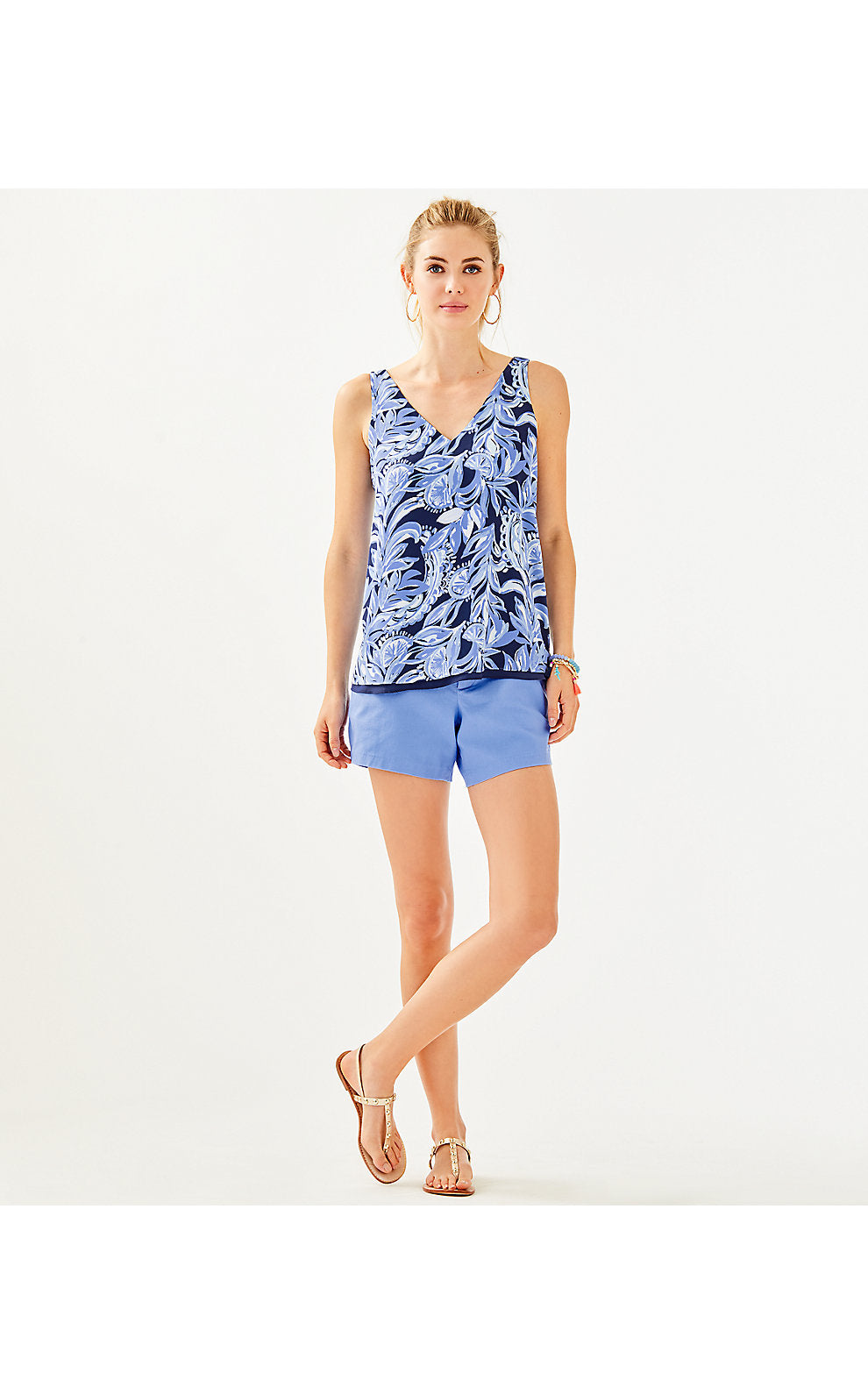 FLORIN SLEEVELESS V-NECK HIGH TIDE NAVY      YOURE THE ZEST