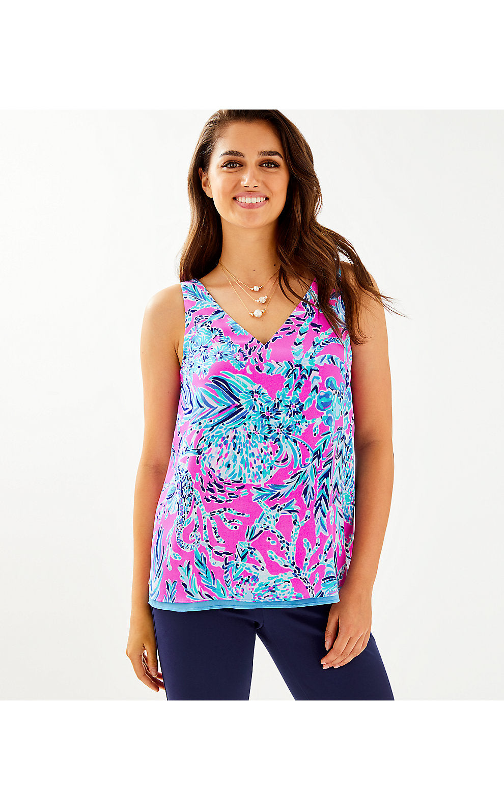 FLORIN SLEEVELESS V-NECK MANDEVILLA PINK     NEW KIDS ON THE DOCK