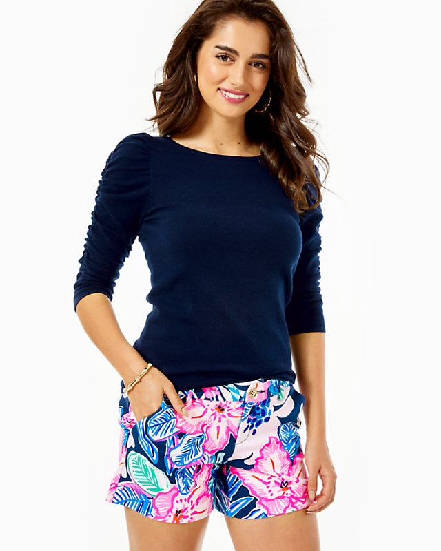 Callahan Knit Short High Tide Navy      Sugar Mambo