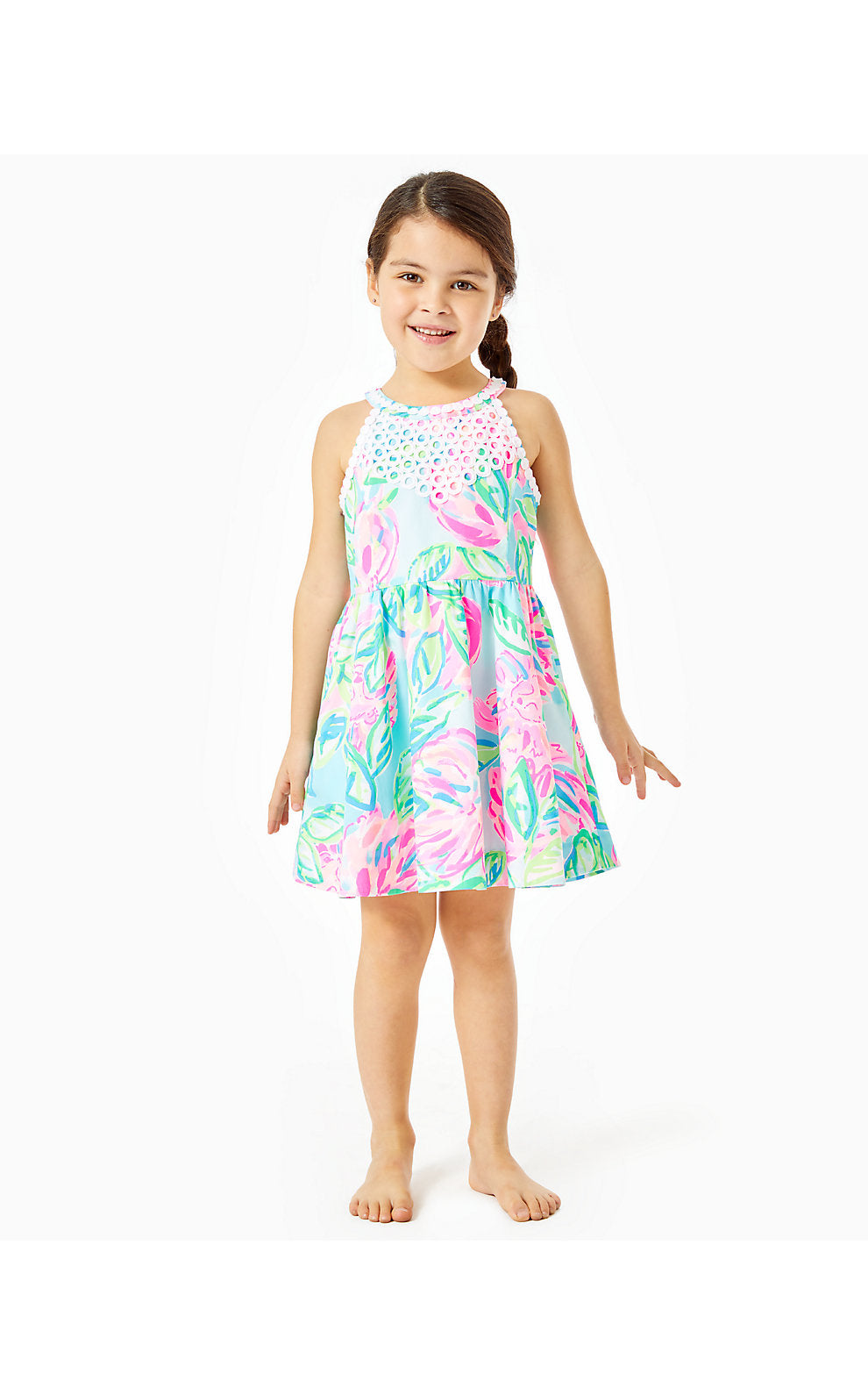 Little Kinley Dress Multi Totally Blossom