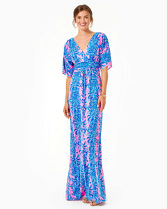 Parigi Maxi Dress Prosecco Pink       Dilly Dally
