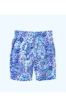 Load image into Gallery viewer, Boys Junior Capri Swim Trunk Call My Shell Phone