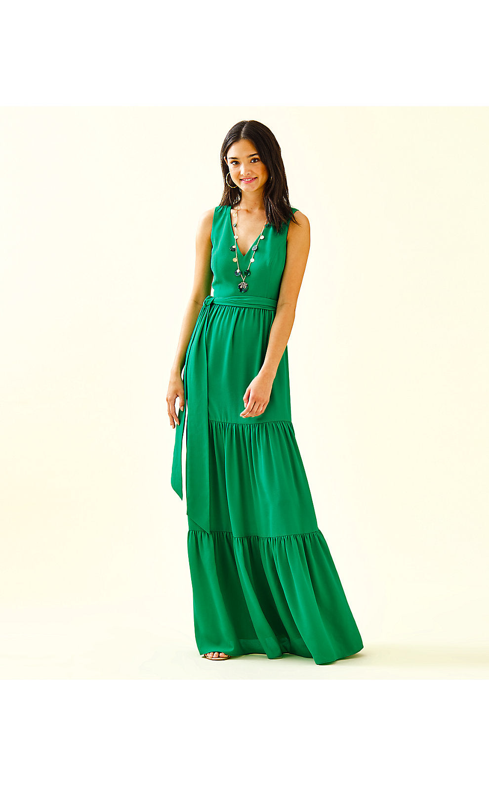 Maurine Maxi Dress Emerald Isle