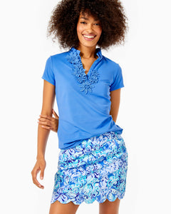 Monica Scallop Skort Upf Saltwater Blue      Suns Out Funs Out Go