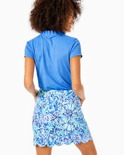Load image into Gallery viewer, Monica Scallop Skort Upf Saltwater Blue      Suns Out Funs Out Go