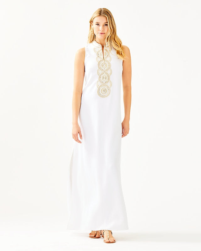 Jane Maxi Dress Resort White