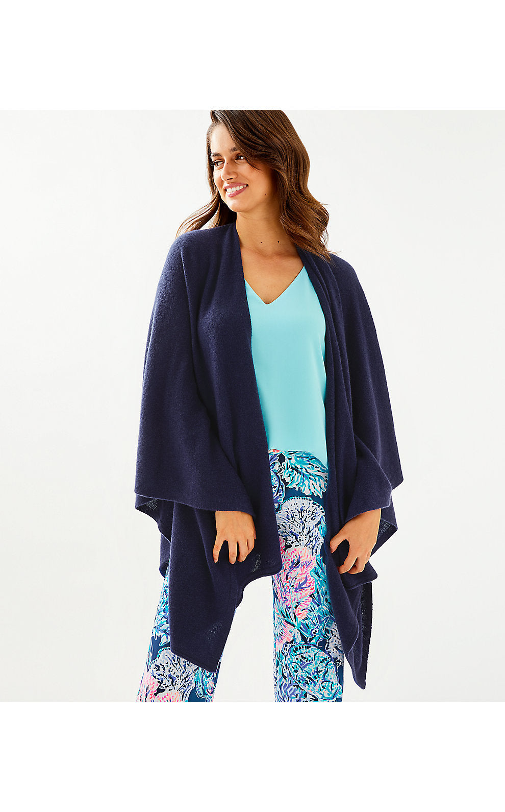 Terri Cashmere Wrap True Navy