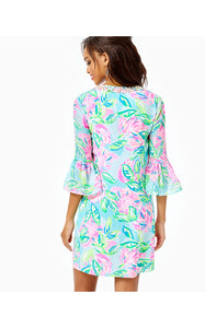 Elenora Silk Dress Multi Totally Blossom