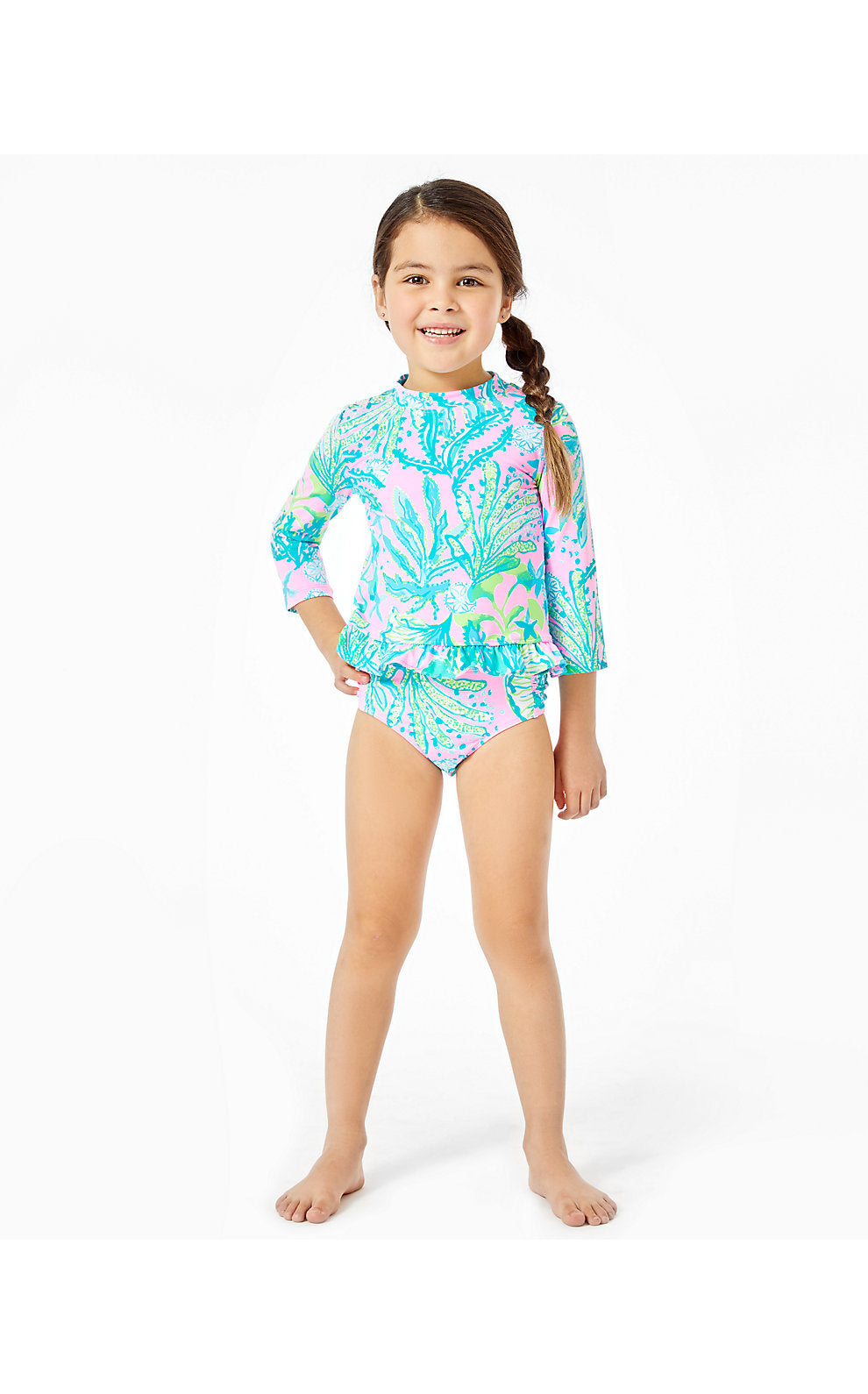 Retreat UPF 50+ Rashguard Mandevilla Baby Hip Nautic