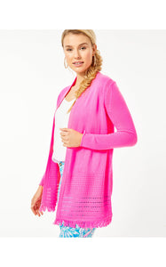 Noble Cardigan Deep Prosecco Pink
